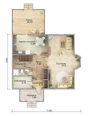 План каркасного дома Фарго