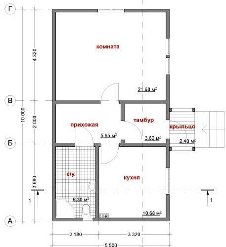 План каркасного дома Феникс