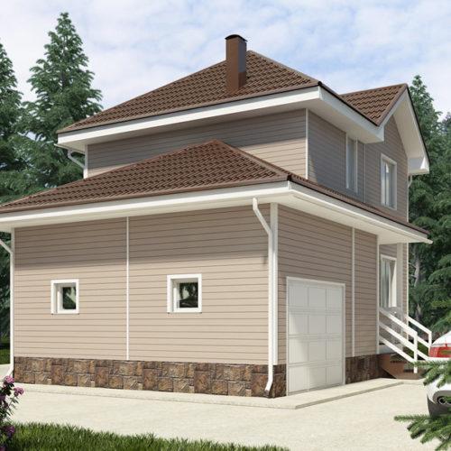 Проект каркасного дома Эрик