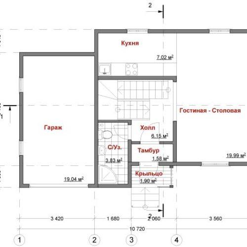 План каркасного дома Эрик