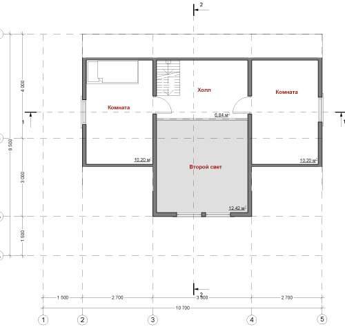 План каркасного дома Фиджо-93