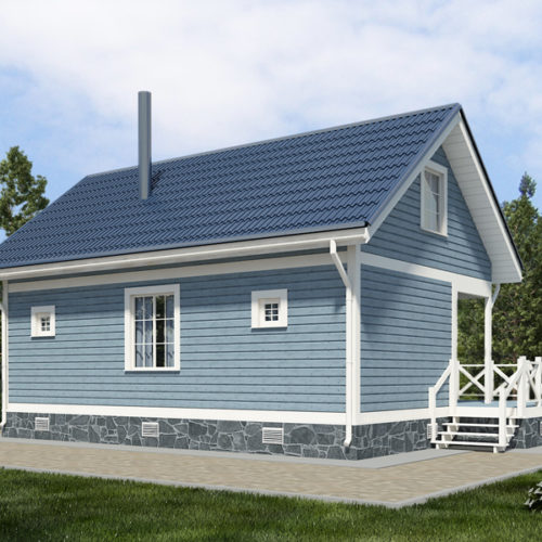 Проект каркасного дома Фиджо-93