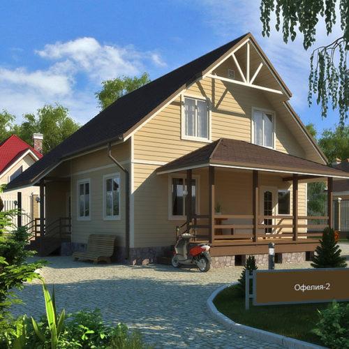 Проект каркасного дома Офелия-148