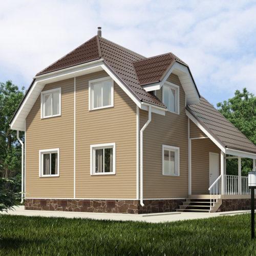 Проект каркасного дома Пегас-97