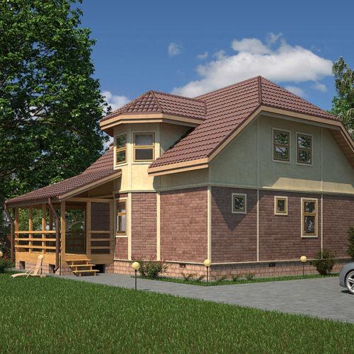 Проект кирпичного дома Пилигрим-180