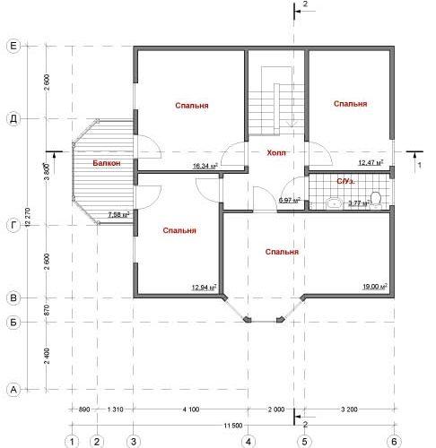 План кирпичного дома Пилигрим-180
