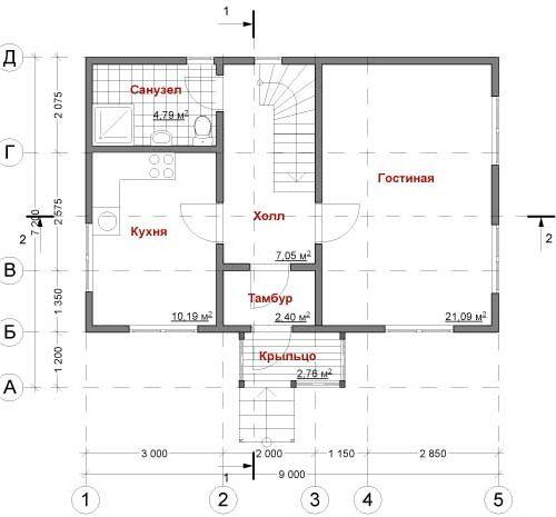 План дома Рада-87