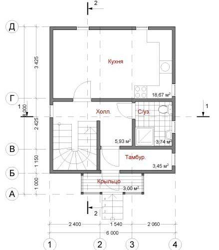 План дома Симпл-70