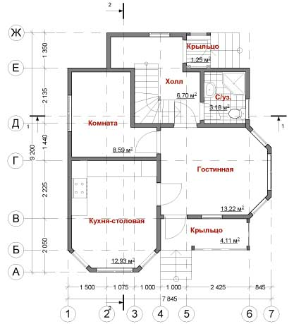 План дома Скандик-91