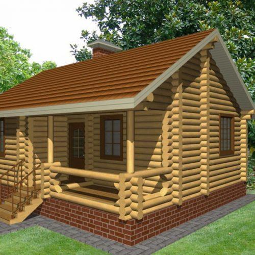 Проект дома из бревна Морис