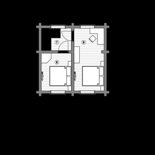 План дома из бревна Елена