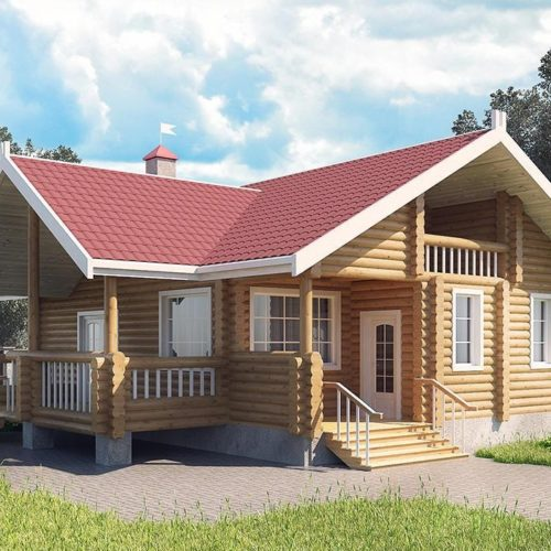Проект дома из бревна Сказка