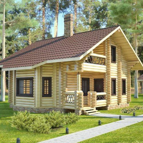 Проект дома из бревна Гимли