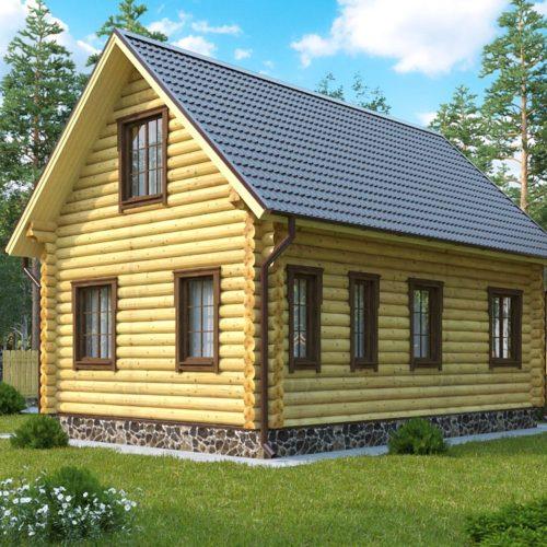 Проект дома из бревна Москва