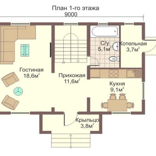 План дома из бревна Москва