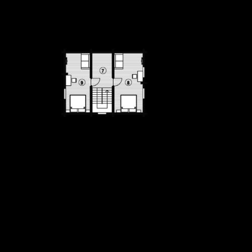 План 2 этажа дома из бревна Ладья