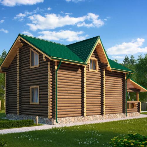 Проект дома из бревна Ладья