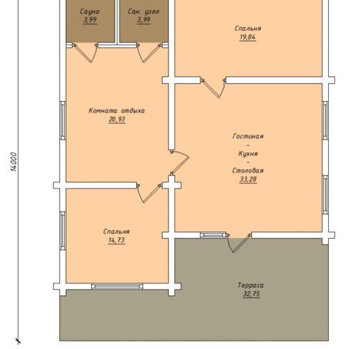 План дома из бревна Ларгус