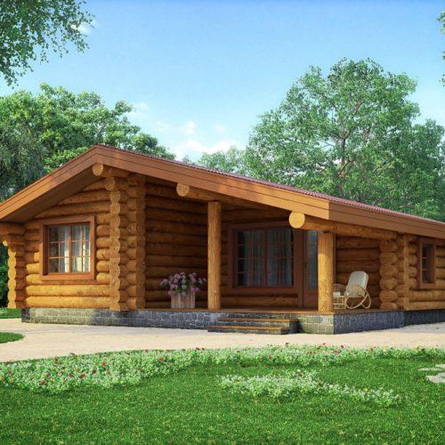 Проект дома из бревна Ларгус