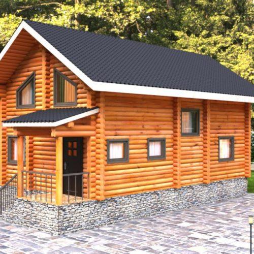 Проект дома из бревна Раскат