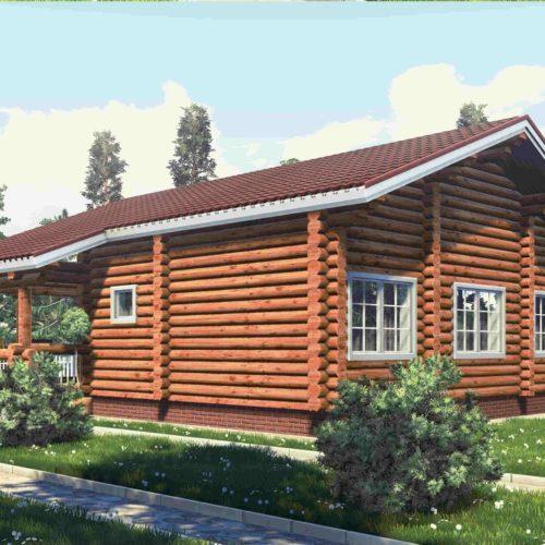 Проект дома из бревна Сантори
