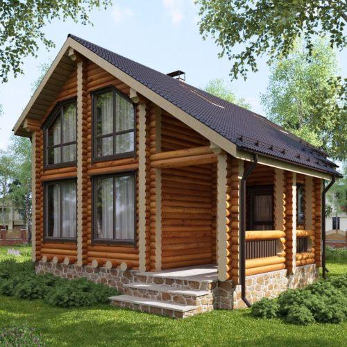 Проект дома из бревна Садовник