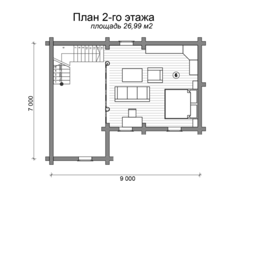 План дома из бревна Шале