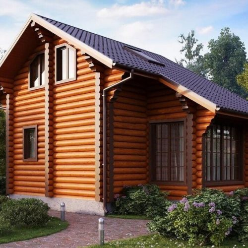 Проект дома из бревна Терем