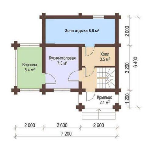 План дома из бревна Терем