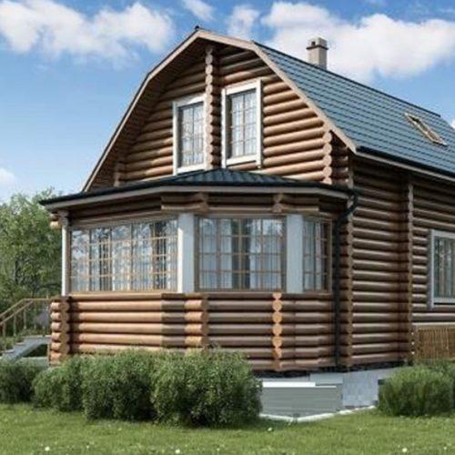 Проект дома из бревна Ежевика