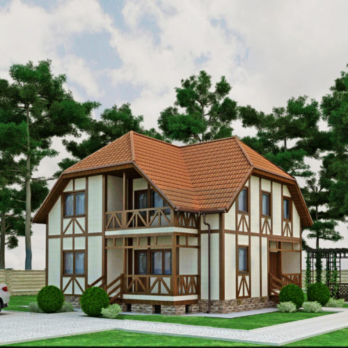 Проект дома из газобетона Альтаир
