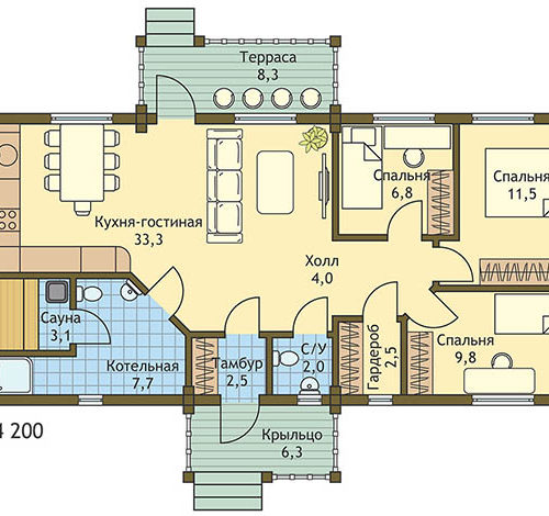 План дома из бруса Цфат