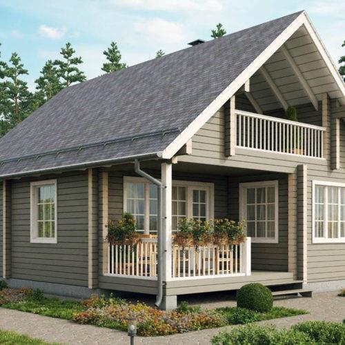 Проект дома из бруса Мигдал