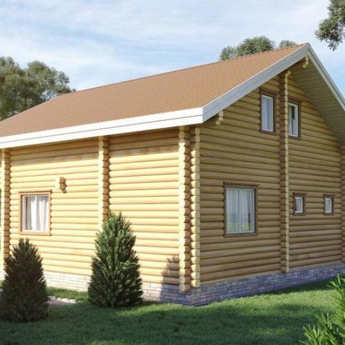 Проект дома из бревна Муромец