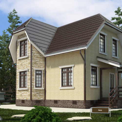 Проект дома из газобетона Пегас
