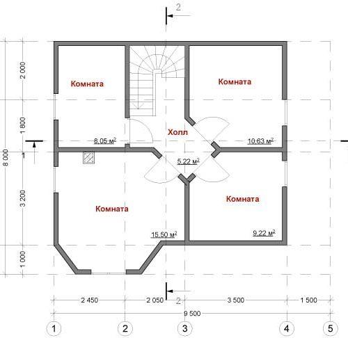 План дома из газобетона Пегас