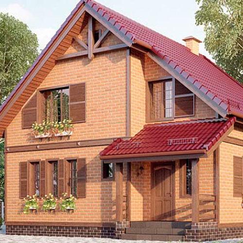 Проект дома из кирпича Премьер