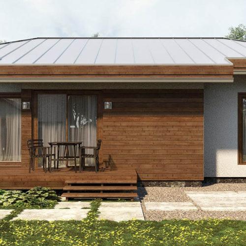 Проект дома из газобетона Солнечник