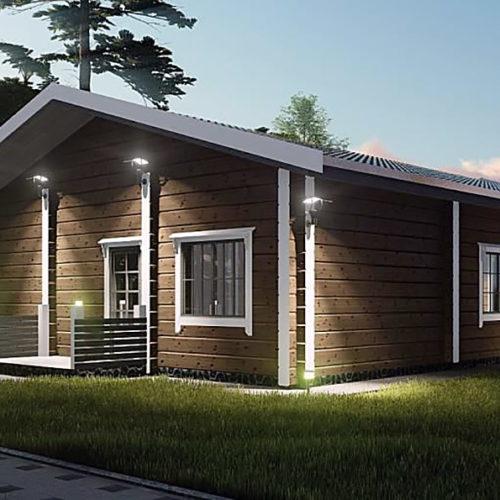 Проект дома из бруса Уреф