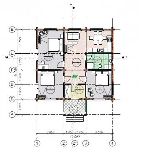 План дома из бруса Валенсия