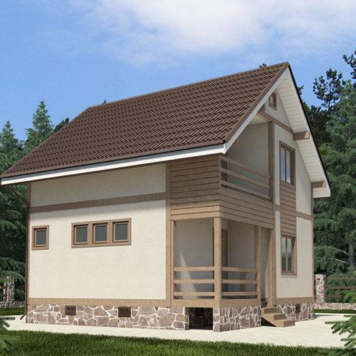 Проект дома из газобетона Вольф